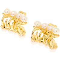 Claire's Gold Vintage Pearl Mini Hair Claws - 2 Pack - Pearl Gifts