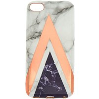 Claire's Geometric Marble Ipod Touch 5/6 Case - Ipod Gifts