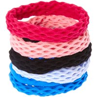 Claire's Pink & Blues Fishnet Hair Bobbles - Ties Gifts