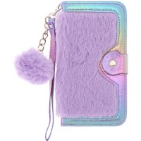 Claire's Purple Faux Fur Folio Phone Case - Fits Iphone 6/7/8 Plus - Phone Gifts