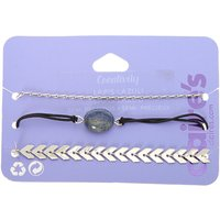 Claire's Lapis Lazuli Creativity Chain Bracelets - 3 Pack - Creativity Gifts