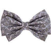 Claire's Christmas Glitter Hair Bow Clip - Grey - Holiday Gifts