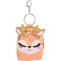 Claire's Ginger The Deer Mini Backpack Keychain - Pink - Ginger Gifts