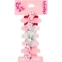 Claire's Club Avery The Cat Hair Ties - Pink, 6 Pack - Ties Gifts