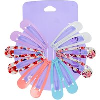 Claire's Pastel Floral Snap Hair Clips - 12 Pack - Floral Gifts