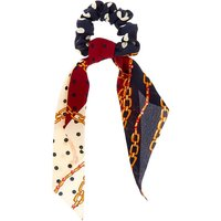 Claire's Chain Satin Scarf Hair Scrunchie - Navy - Scarf Gifts