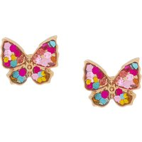 Claire's 18Kt Gold Plated Stained Glass Butterfly Earrings - Glass Gifts