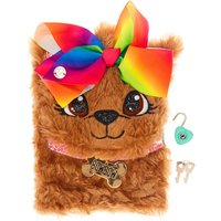 Claire's Jojo Siwa Bow Bow The Puppy Plush Secret Notebook - Puppy Gifts