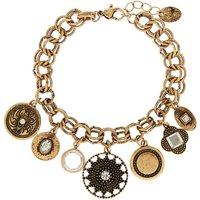 Claire's Gold Medallion Charm Bracelet - Charm Bracelet Gifts