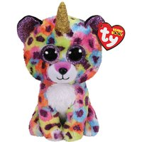 Claire's Ty Beanie Boo Medium Giselle The Unicorn Leopard Soft Toy - Leopard Gifts