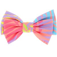 Claire's Neon Palm Leaf Bow Hair Clip - Hair Gifts