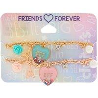 Claire's Paris Love Chain Friendship Bracelets - 2 Pack - Friendship Gifts