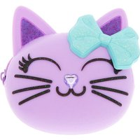 Claire's Cat Glitter Jelly Coin Purse - Purple - Purse Gifts