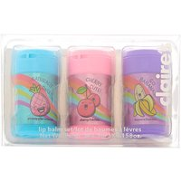 Claire's Fruity Lip Balm Cans Set - 3 Pack - Lip Balm Gifts