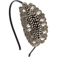 Claire's Vintage Silver Beaded Headband - Vintage Gifts