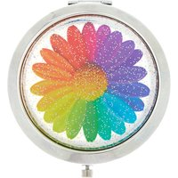 Claire's Rainbow Daisy Compact Mirror - Mirror Gifts