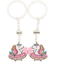 Claire's Best Friends Unicorn Donut Keychains - 2 Pack - Keyrings Gifts
