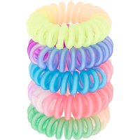 Claire's Rainbow Matte Ombre Mini Spiral Hair Bobbles - 5 Pack Bracelet - Ties Gifts