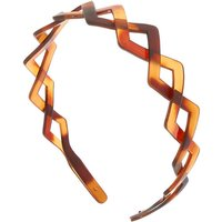 Claire's Tortoiseshell Triangle Braided Headband - Brown - Brown Gifts