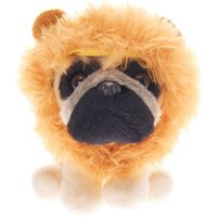 Claire's Doug The Pug ™ Small Lion Soft Toy - Cream - Lion Gifts