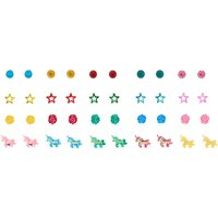 Claire's Girly Icon Assorted Unicorn Stud Earrings - 20 Pack - Girly Gifts