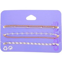 Claire's Mixed Metal Chain Bracelets - 5 Pack - Metal Gifts