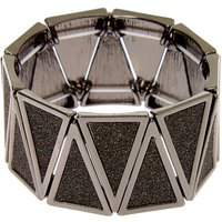 Claire's Hematite Glitter Triangle Stretch Bracelet - Fashion Gifts