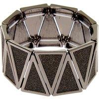 Claire's Hematite Glitter Triangle Stretch Bracelet - Jewellery Gifts
