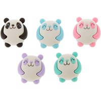 Claire's Pastel Panda Erasers - 5 Pack - Panda Gifts