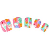 Claire's Ice Cream Print Press On Faux Nails - Ice Cream Gifts