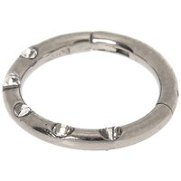 Claire's Silver Titanium Crystal Cartilage Clicker Hoop Earring - Crystal Gifts
