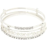 Claire's Silver Bling Bangle Bracelets - 5 Pack - Bling Gifts