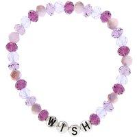 Claire's Wish Beaded Stretch Bracelet - Purple - Wish Gifts