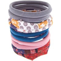 Claire's Floral, Paisley And Solid Hair Ties - 10 Pack - Ties Gifts
