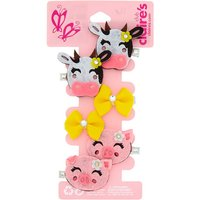 Claire's Claire's Club Farm Animal Hair Clips - 6 Pack - Animal Gifts