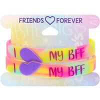 Claire's Tie Dye I Heart My Bff Friendship Bracelets - 2 Pack - Friendship Gifts
