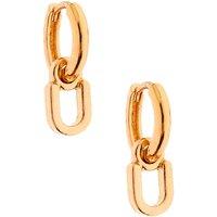 Claire's Gold 10MM Initial Huggie Hoop Earrings - U - Jewellery Gifts