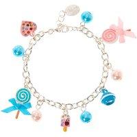 Claire's Silver Tone Lollipops Charm Bracelet - Charm Bracelet Gifts