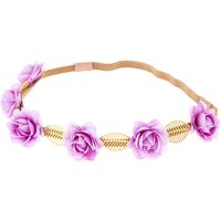 Claire's Gold Leaves & Rose Flower Crown - Lilac - Lilac Gifts
