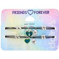Claire's Mood Lock & Key Adjustable Friendship Bracelets - 2 Pack - Friendship Gifts
