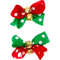 Claire's Polka Dot Bell Hair Bow Clips - 2 Pack - Polka Dot Gifts
