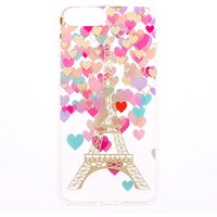 Claire's Parisian Romance Clear Protective Phone Case - Fits Iphone 6/7/8 Plus - Romance Gifts