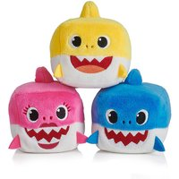 Claire's Pinkfong Baby Shark Plush Cube Toy - Styles May Vary - Shark Gifts
