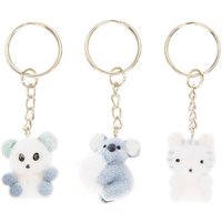 Claire's Koala & Friends Keyrings - 3 Pack - Keyrings Gifts