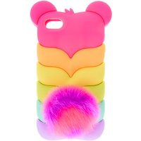 Claire's Rainbow Bear Pom Ipod Touch 5/6 - Ipod Gifts