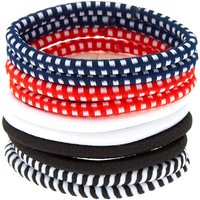 Claire's Mixed Print Hair Ties - Red, 10 Pack - Hair Gifts