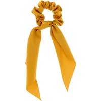 Claire's Satin Scarf Hair Scrunchie - Mustard - Scarf Gifts