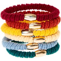 Claire's Autumn Ribbed Hair Ties - 6 Pack - Ties Gifts