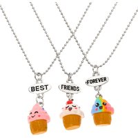 Claire's Best Friends Cupcake Pendant Necklaces - 3 Pack - Cupcake Gifts