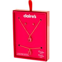 Claire's October Birthstone Jewelry Gift Set - Rose, 3 Pack - Birthstone Gifts